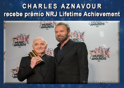 Charles Aznavour recebe prêmio NRJ Lifetime Achievement